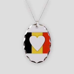 Belgium Design Necklace Oval Charm