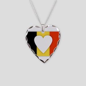 Belgium Design Necklace Heart Charm