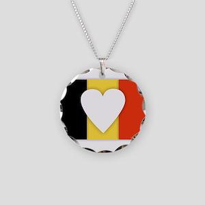 Belgium Design Necklace Circle Charm
