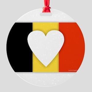 Belgium Design Round Ornament