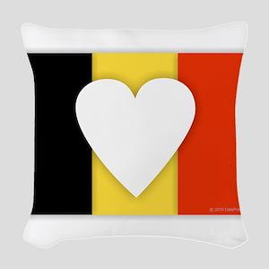 Belgium Design Woven Throw Pillow