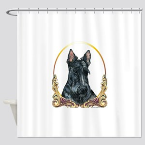 Scottish Terrier Holiday Shower Curtain