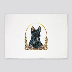 Scottish Terrier Holiday 5'x7'Area Rug