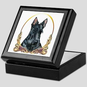 Scottish Terrier Holiday Keepsake Box