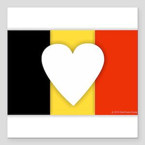 """Belgium Design Square Car Magnet 3"""" x 3"""""""