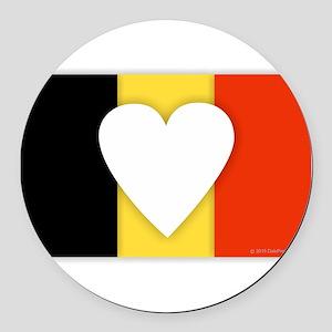 Belgium Design Round Car Magnet