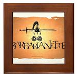 Barbarianette Framed Tile
