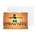 Barbarianette Greeting Card