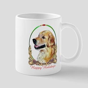 Golden Retriever Happy Holidays Mug