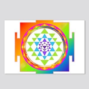 Sri Yantra Rainbow Chakra Postcards (Package of 8)