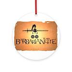 Barbarianette Round Ornament