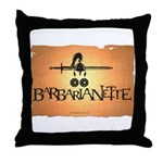 Barbarianette Throw Pillow