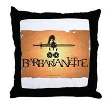 Barbarianette Throw Pillow