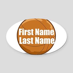 Basketball Oval Car Magnet