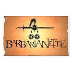 Barbarianette Sticker (Rectangle)