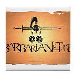 Barbarianette Tile Coaster