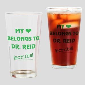 MY HEART BELONGS... Drinking Glass
