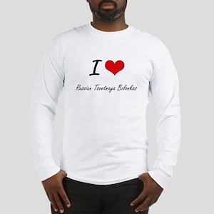 I love Russian Tsvetnaya Bolon Long Sleeve T-Shirt
