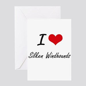I love Silken Windhounds Greeting Cards