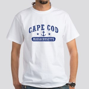 Cape Cod Massachusetts White T-Shirt