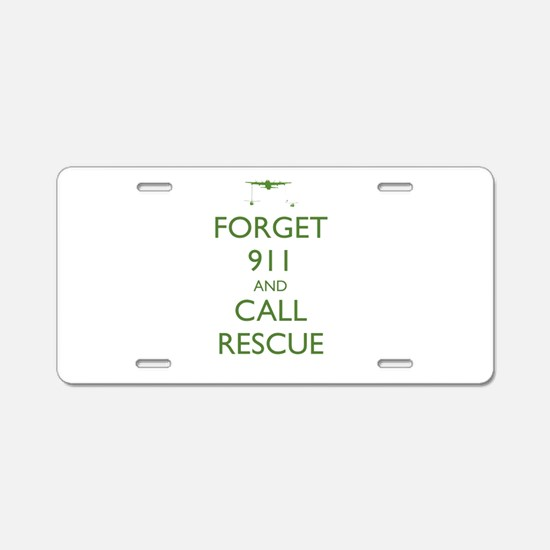 Forget 911 Aluminum License Plate