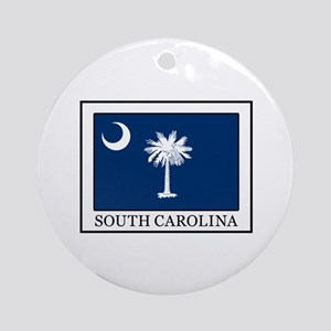 South Carolina Round Ornament