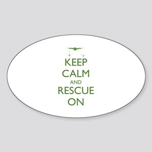Keep Calm and Rescue On Sticker