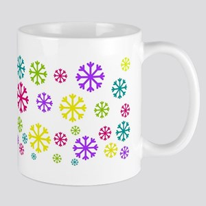 Bright Snowflakes Mugs