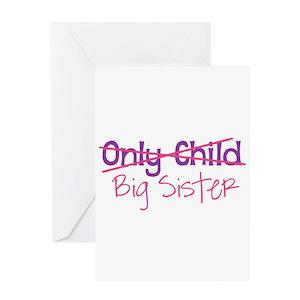 Big sister greeting cards cafepress m4hsunfo