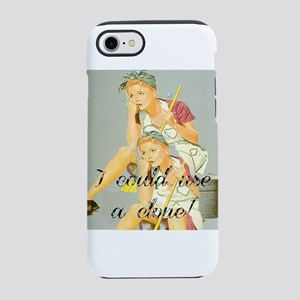 house cleaning humor iPhone 8/7 Tough Case