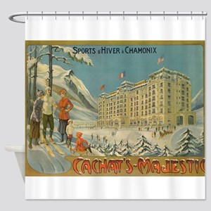 Cachet's Majestic, Chamonix, Shower Curtain