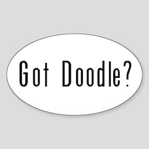 Got Doodle? Oval Sticker