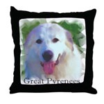 Great Pyrenees Throw Pillow - Portrait