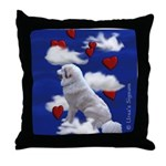 Great Pyrenees Throw Pillow - In the Clouds