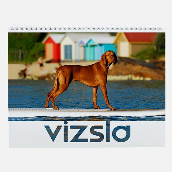 Surfing Vizsla Wall Calendar
