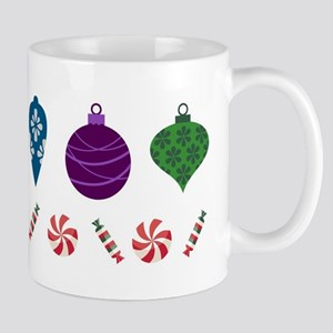 Happy Holidays Ornaments and Candy Mugs