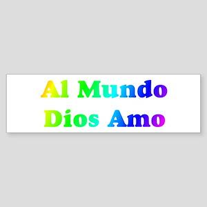 Rainbow Al Mundo Bumper Sticker