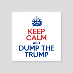 Keep Calm And Dump The Trump Sticker