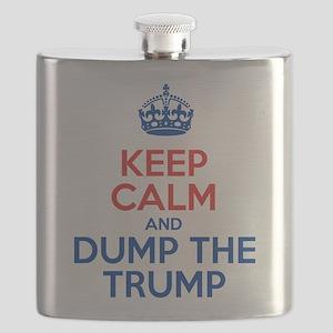 Keep Calm And Dump The Trump Flask