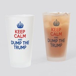 Keep Calm And Dump The Trump Drinking Glass