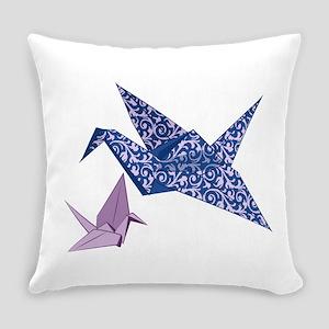 Origami Crane Everyday Pillow