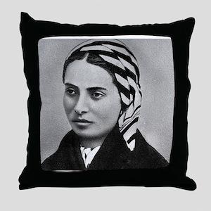Saint Bernadette Throw Pillow