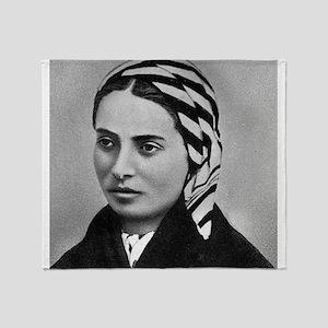 Saint Bernadette Throw Blanket