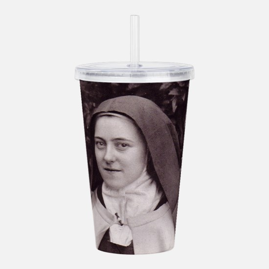 Saint Therese Of Lisie Acrylic Double-wall Tumbler