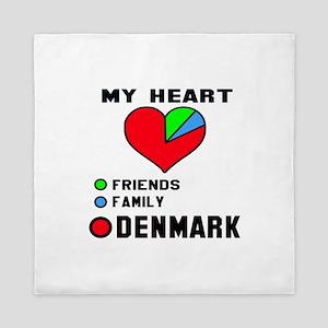 My Heart Friends, Family and Denmark Queen Duvet