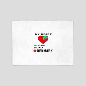 My Heart Friends, Family and Denmar 5'x7'Area Rug