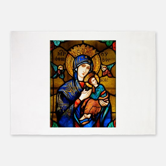 Our Lady Of Perpetual Help 5'x7'Area Rug