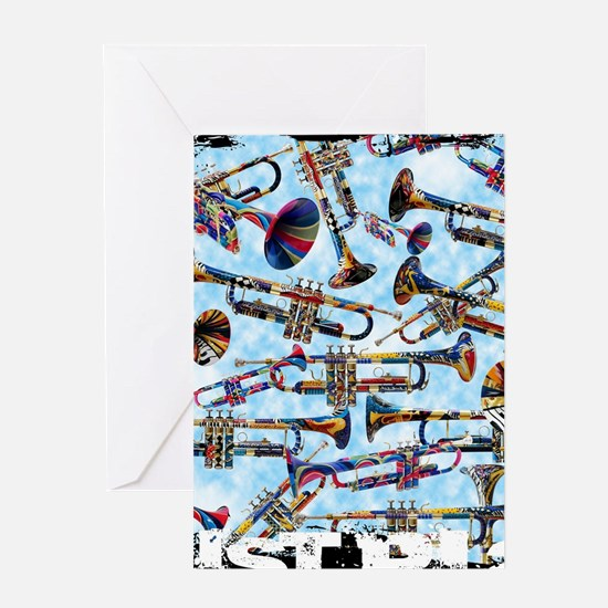 Trumpet Design Just Play by Juleez Greeting Cards
