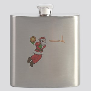 Santa Claus Christmas Basketball Player Flask