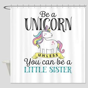 Unicorn LITTLE SISTER Shower Curtain